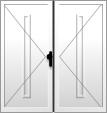Hlavní vstupní dveře dvoukřídlé